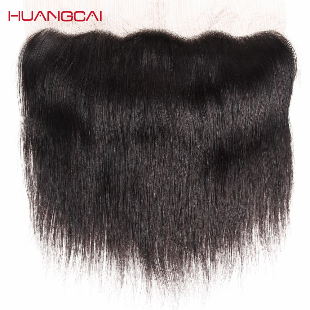 Peruvian Straight 1 Pcs 13*4 Lace Frontal Closure With Baby Hair Remy 100% Human Hair Extensions 8-20 Inch Natural Color