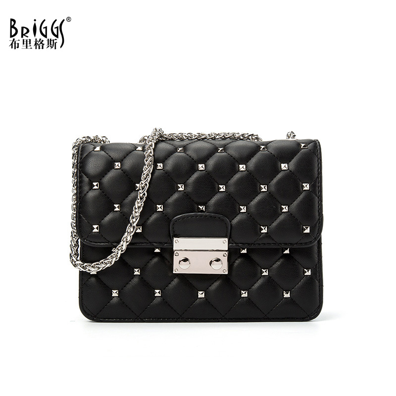 Fashion Rivet Women Messenger Bags Quality Leather Chains Strap Female Shoulder Bag Casual Small Flap Bags Women Crossbody Bags цены