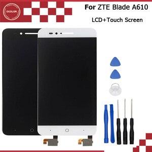 Image 1 - Ocolor Voor Zte Blade A610 Lcd Nd Touch Screen Assembly Reparatie Deel 5.0 Inch Mobiele Accessoires Voor Zte Telefoon Met gereedschap