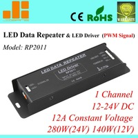 Free Shipping Top Selling Pwm Signal Amplifier LED Signal Repeater LED Driver 280W Constant Voltage 1