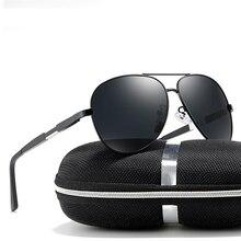 Al-mg Alloy Spring Legs Ultralight Pilot Polarized Sunglasses Custom Made Myopia Minus Prescription Lens -1 To-6