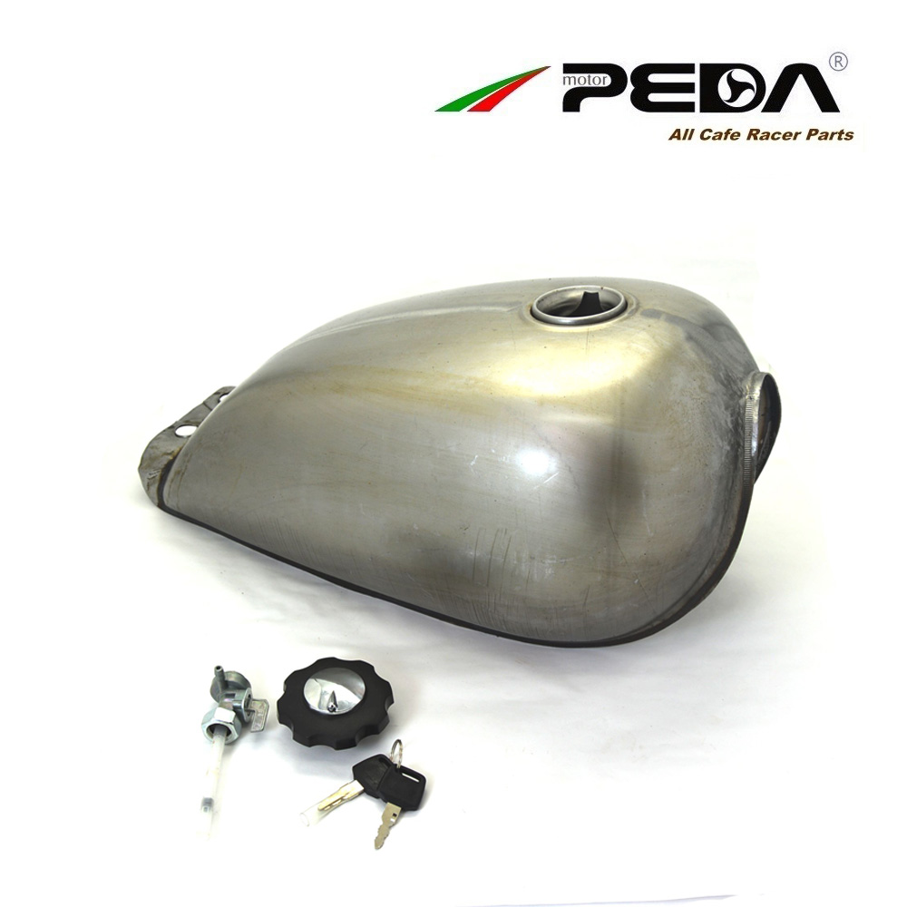 B4 PEDA Cafe Racer Retro Fuel Tank Universal Motorcycle Vintage Petrol Gas Can Gasoline Tanks For SUZUKI GN125 GN250 For HONDA motorcycle rafe racer fuel gas cap petrol tank cover aluminum for ducati scrambler