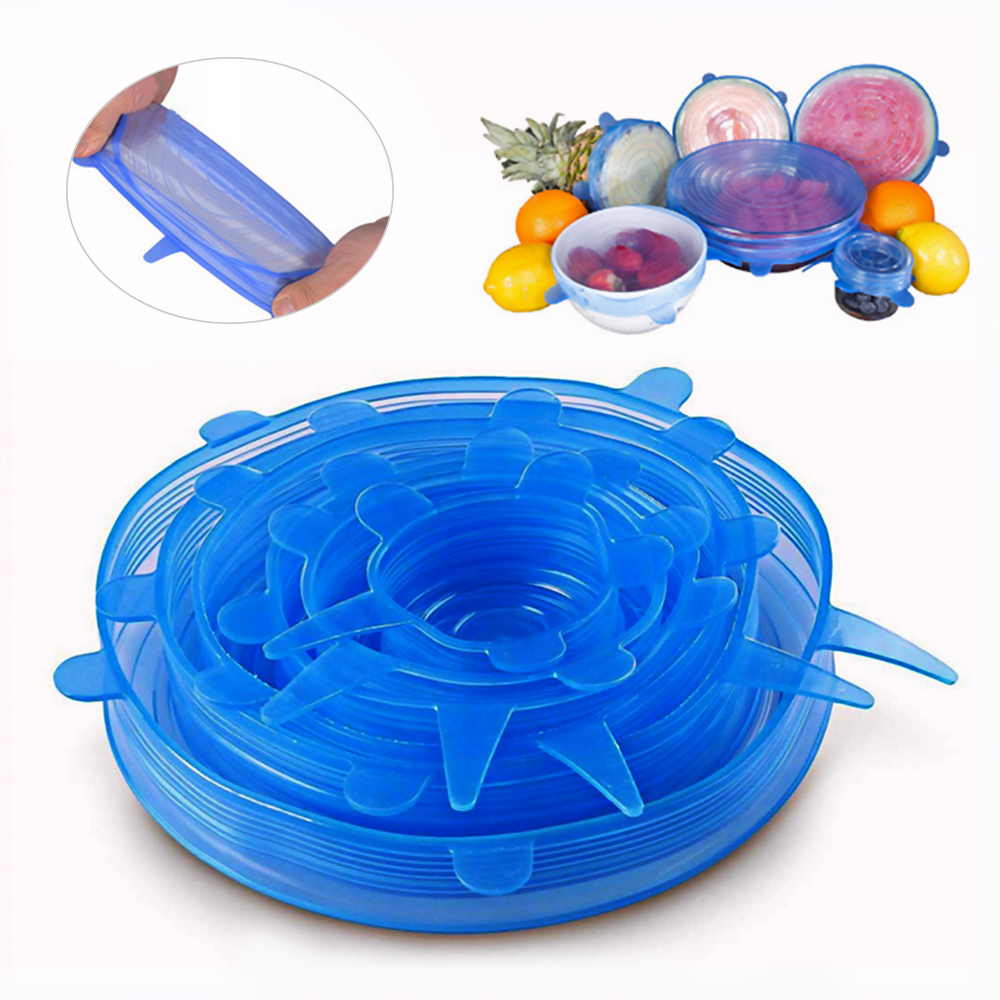 Silicone Stretch Lids Reusable Food Wrap Lid Dish Container Cover Universal Lid Fresh Keeping Kitchen Accessories (11)