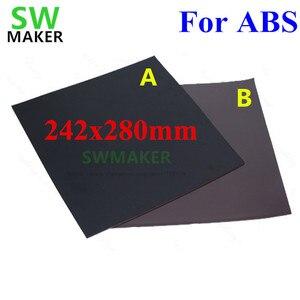 Nuevo para cinta de cama de impresión magnética ABS cuadrado 280x242mm, placa de construcción adhesiva impresa, placa flexible para impresora Flyingbear P905X 3D