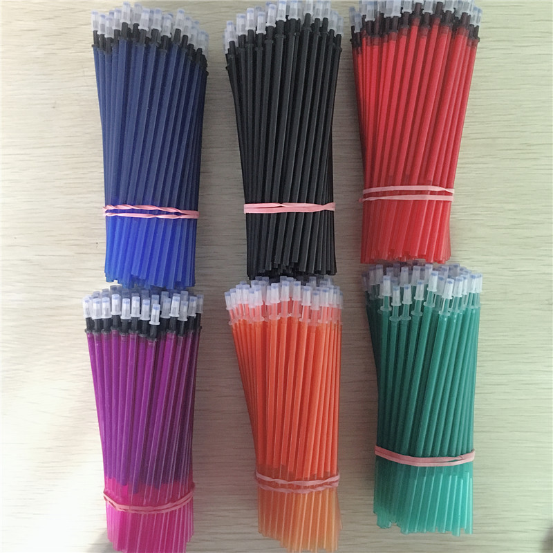 20 Pcs/lot Blue Black Red Ink Gel Pen Erasable Refill Rod Magic Erasable Pen Refill 0.5mm School Stationery Writing Tool Gift