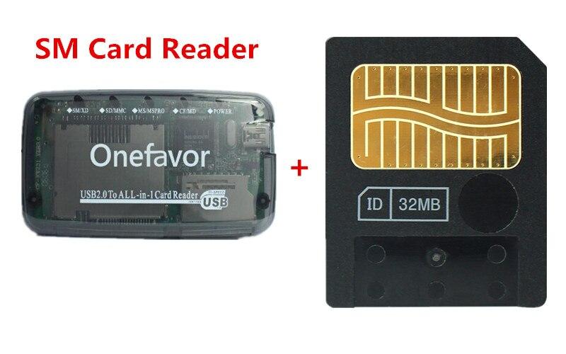 Nouveau!!! 64 MB Smart media carte smartmedia SM carte mémoire 64 M + SM Carte Mémoire Lecteur