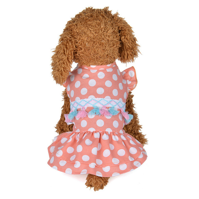 Summer Pet Dog Dresses For Small Dogs Chihuahua Yorkie Pug Wedding
