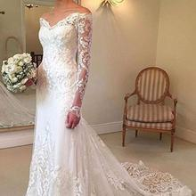 lakshmigown White Long Sleeves Beach Wedding Dress
