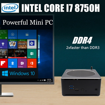 S200 Super Nuc i9 8950HK i7 8750H Xeon 6 Core 12 Threads Mini PC Windows 10 Pro 2*DDR4 i5 8300H AC Wifi Desktop Computer HDMI