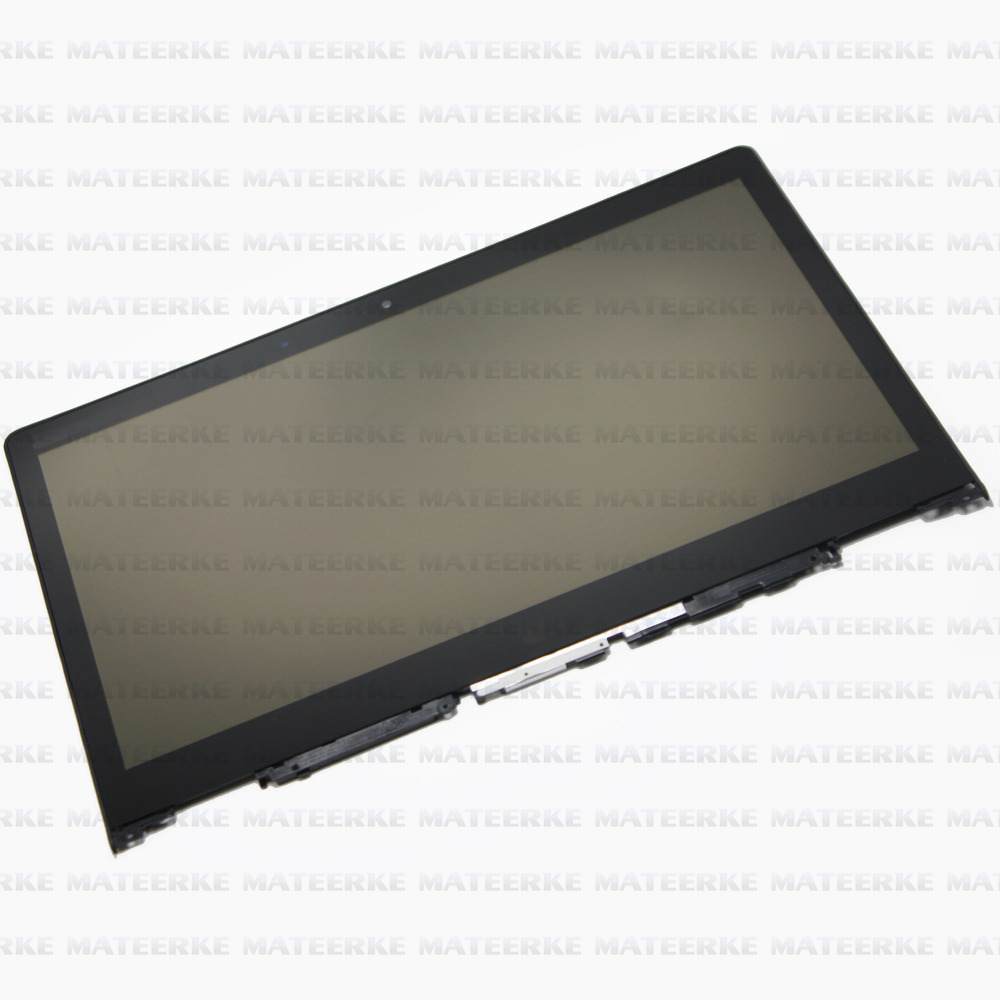 (With Bezel) Laptop Touch Lcd Screen Digitizer Assembly Display For Lenovo Yoga 700 14  10pcs lot lcd assembly for htc one m7 lcd display touch screen digitizer with frame bezel replacement new original quality