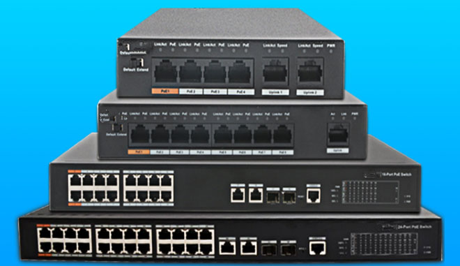 DH 4 8 16 24 Ports POE Switch Standard ip system S1500C-4ET2ET-DPWR S1500C-8ET1ET-DPWR S1500C-16ET2GF-APWR S1500C-24ET2GF-APWR dh 4 ports poe switch standard 48v not burn the machine 250 meters transmit for security cameras and cctv ip system