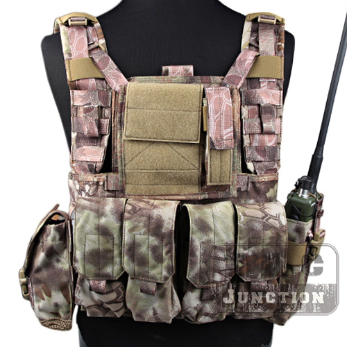 Emerson Tactical MOLLE Rhodesian Reconnaissance Vest RRV Adjustable Chest Rig Highlander Panel Plate Carrier with Pouches