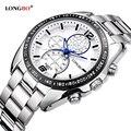 Longbo negócios sport watch mens relógios top marca de luxo casual aço inoxidável homens relógio de pulso de quartzo relogio masculino 8834