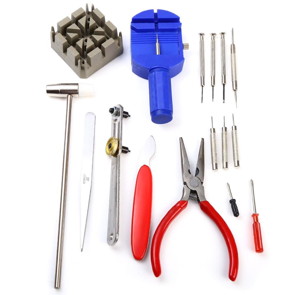16pcs kit di strumenti per la riparazione di orologi Set di strumenti - Set di attrezzi - Fotografia 2