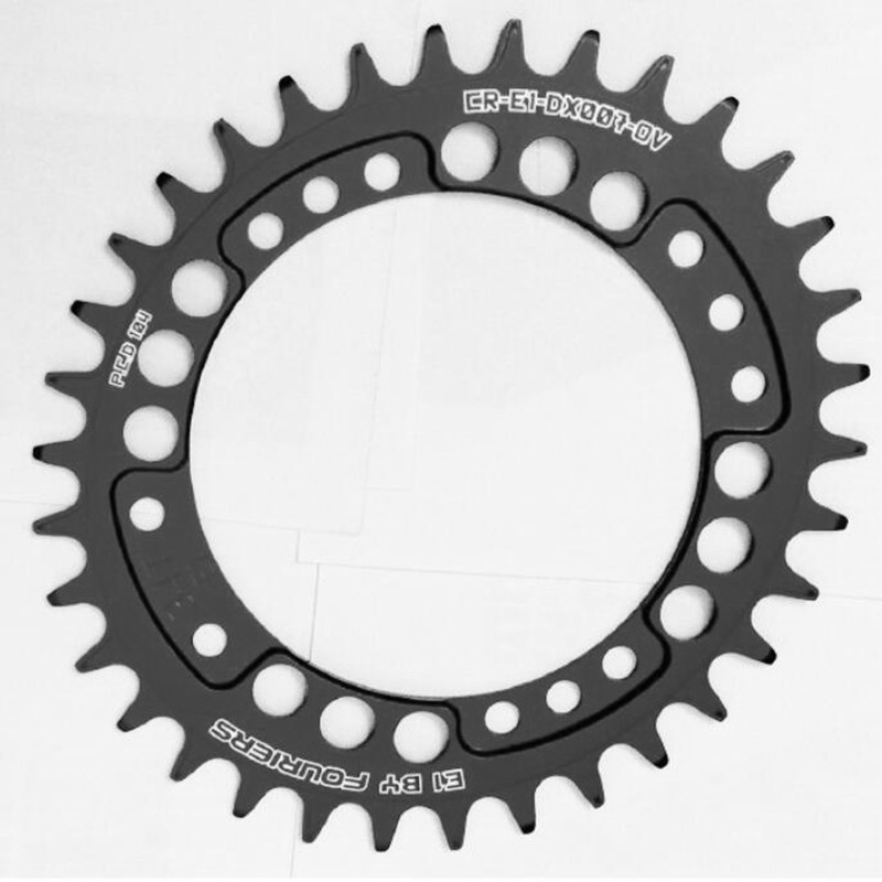 FOURIERS MTB  Bicycle Chainring CR-E1-DX007-OV 104BCD  A7075 Alloy  Bike oval Narrow Wide  Chainwheel Cycle Crankset 34-48T cnc alloy mtb bike bicycle chain bash guard mount chainring guide 30 40t p c d 104mm bike crankset protection