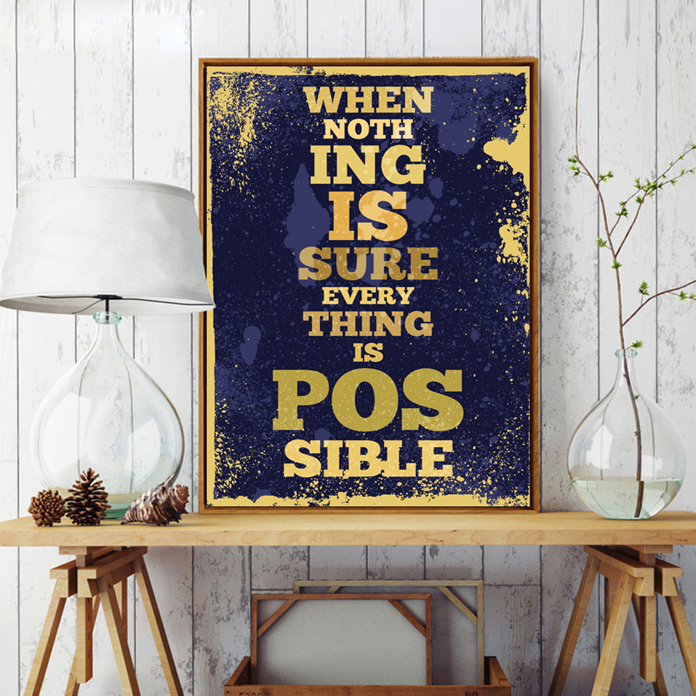 Color printing quotes - Color Printing Quotes Retro English Motto Inspirational Quote Color Canvas Painting Art Print Poster Picture