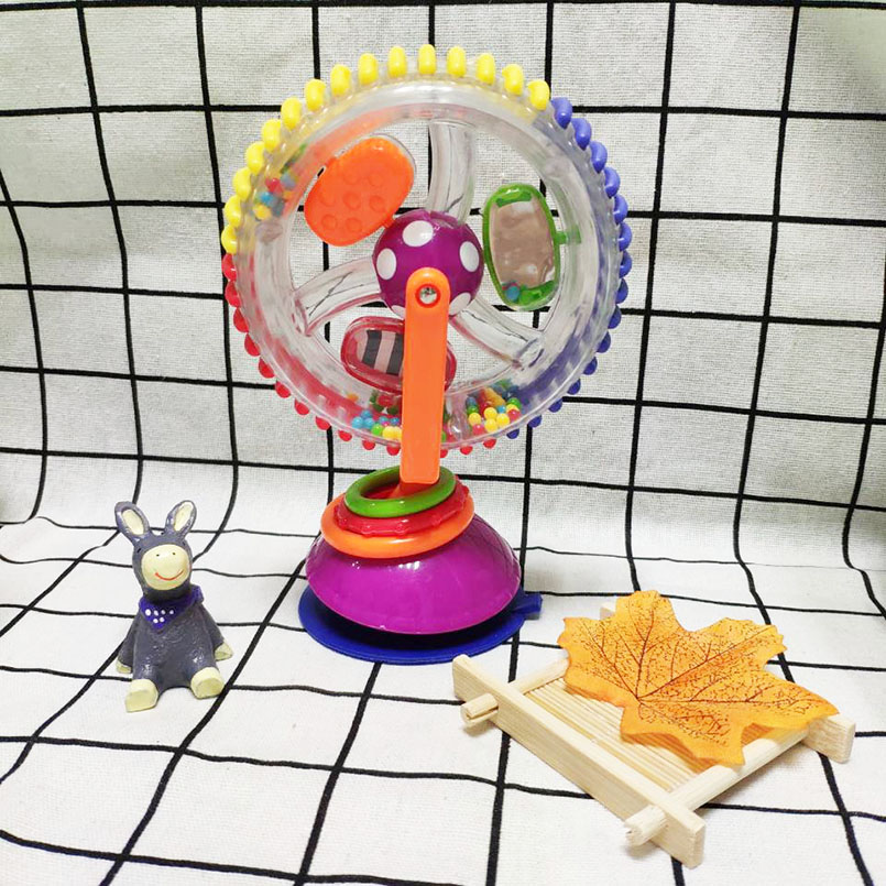 Baby & Toddler Toys Ferris Wheel Suckers Rattles Rotate Baby Mobile Crib 0-12 Months Infant Educational Toys hot infant toys baby crib revolves around the bed stroller playing toy car lathe hanging baby rattles mobile 0 12 months new