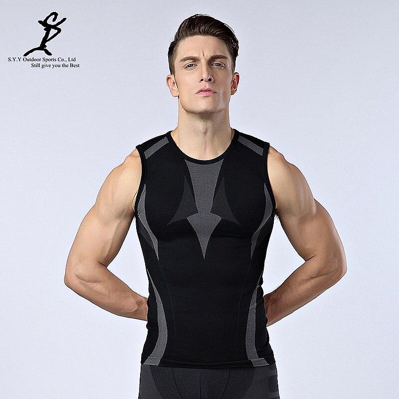 Men Compression Baselayer Athletic Slimming Body Shaper Vest Slim Fit Undershirt