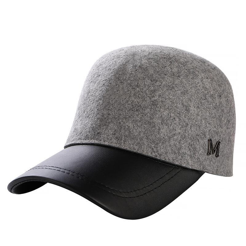 c20cab4994f Detail Feedback Questions about Winter Hats For Women 100% Wool Button  Baseball Caps M logo Sun Visor Hat Gorras Casquette Touca Black Casual free  shipping ...