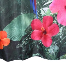 Fabric Polyester 3D Red Parrot Waterproof Shower Curtain