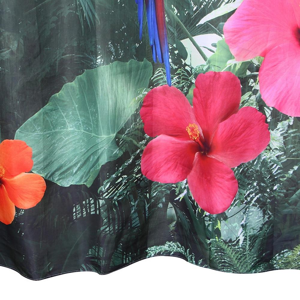 Happy Tree Polyester 3D Röd Papegoja Dusch Gardin 3D Vattenfall - Hushållsvaror - Foto 3