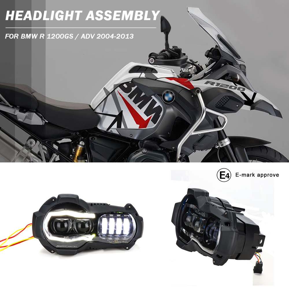 Motorcycle LED Headlights Projector for BMW R1200GS 2004-2012 R 1200GS ADV Adventure 2005-2013 Motor Lights AssemblyMotorcycle LED Headlights Projector for BMW R1200GS 2004-2012 R 1200GS ADV Adventure 2005-2013 Motor Lights Assembly