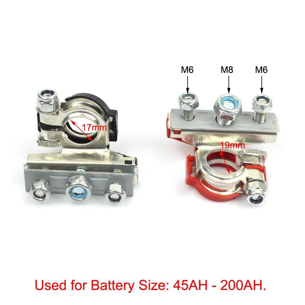 2 шт., автомобильный клеммный разъем для аккумулятора, быстроразъемные зажимы для аккумулятора, автомобильные аксессуары