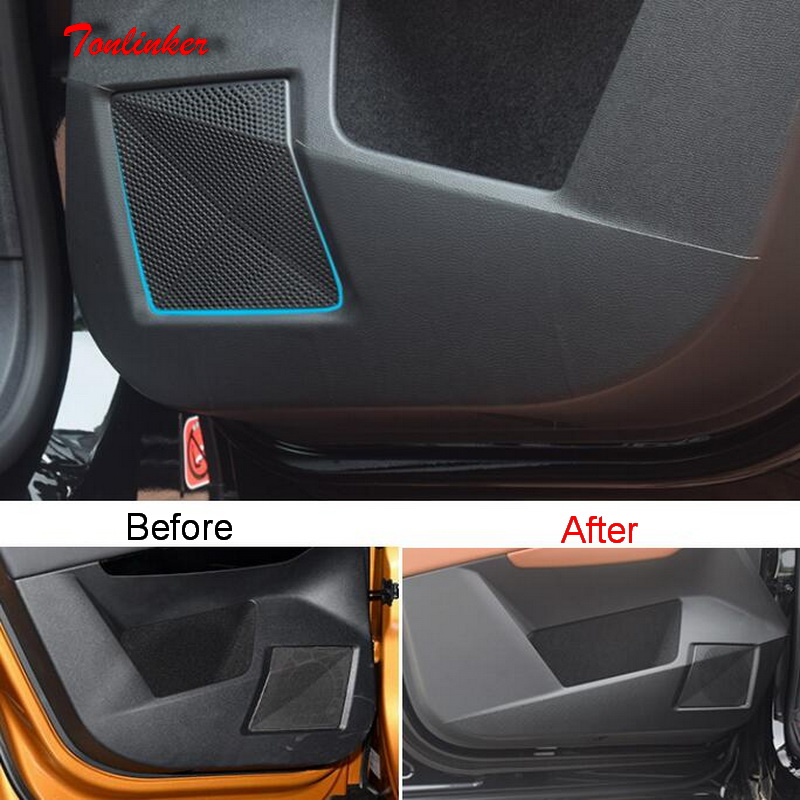 Tonlinker 4 PCS Car Door Anti-dirty Pad Cover Sticker For CITROEN DEESSE DS7 2018-19 Car Styling PU Leather Cover Stickers