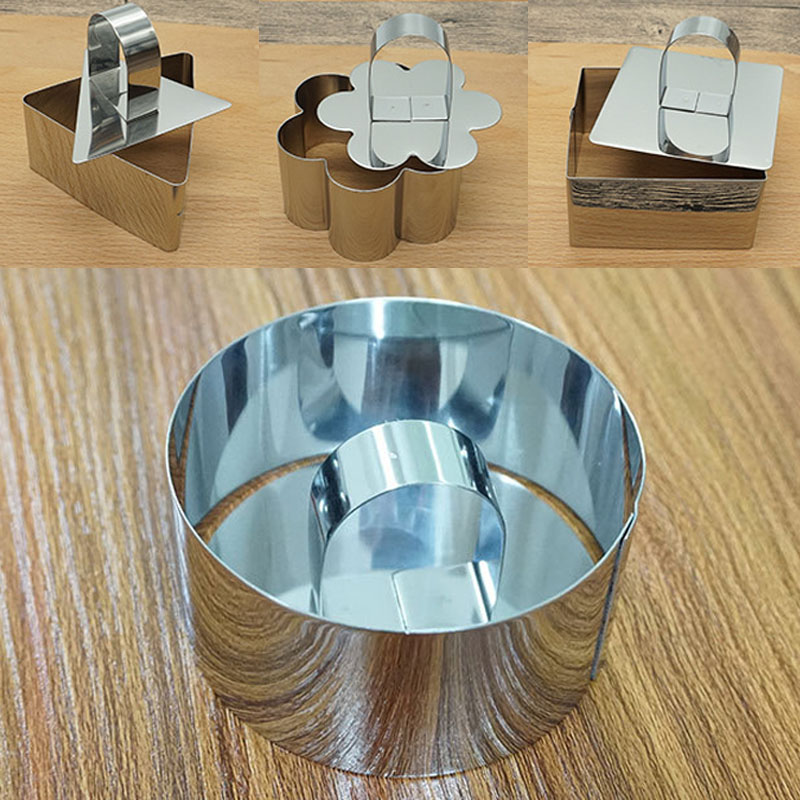 Biscuit Cutter 1Pcs Baking Accessories <font><b>Stainless</b></font> <font><b>Steel</b></font> Portable Cake <font><b>Cheese</b></font> Tool Mousse Ring Cupcake <font><b>Mold</b></font> Kitchen Gadgets image