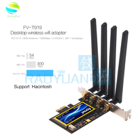 FV T919 Dual band 802.11AC Desktop Wifi Card 802.11 A/B/G/N/AC Broadcom BCM94360 Wireless Bluetooth 4.0 Mac OSX+ PC/Hackintosh