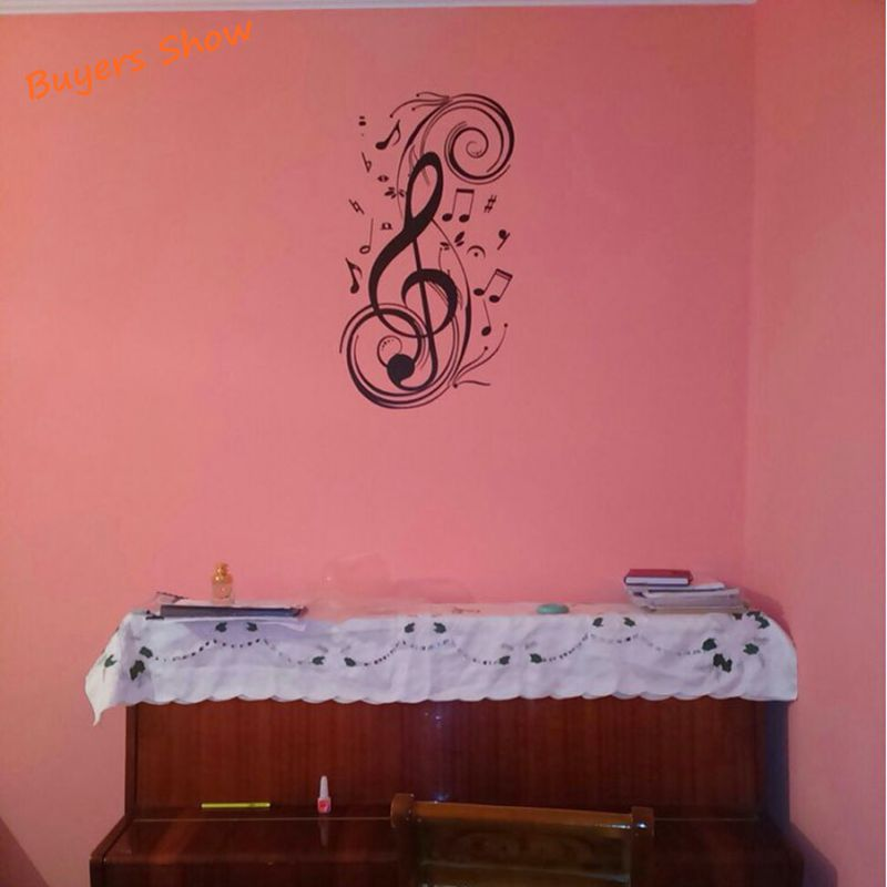 Aliexpress.com : Buy Beat Note Music Wall Art Stickers , Vinyl Wall  Stickers Music Decor , Graphic Art Musical Home Decoration ,Free Shipping  G0084 From ... Part 33