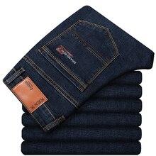 Di grandi Dimensioni 42 44 46 2020 Primavera dei Nuovi Uomini di Jeans di Affari Casual Tratto Pantaloni In Denim Dritti Pantaloni di Marca Maschile vestiti