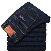 Large Size 42 44 46 2020 Spring New Mens Jeans Business Casual Stretch Straight Denim Trousers Pants Male Brand Clothes