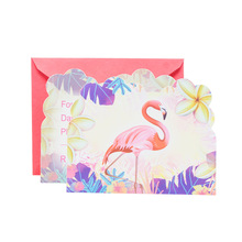 6pcs/lot Flamingo Party Dinnerware Set Disposable Invitation Decoration Kids Birthday Summer Hawaiian Supplies Supplier