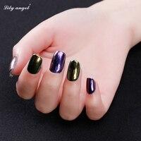 Hot Sale Lilyangel Shinning Mirror Nail Glitter Color Magic Powder DIY Nail Art Gold Chrome Pigment