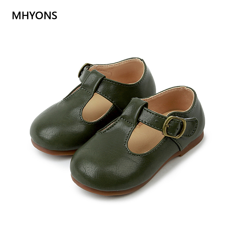 MHYONS 2018 Spring and autumn Breathable Solid Hook/Loop Soft bottom casual shoes Children Boys Girls Kids Unisex Size 21-30