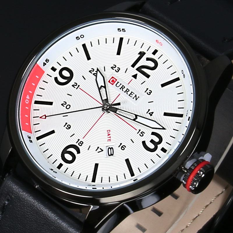 New CURREN Luxury Brand Fashion Men Military Sports Watches Men's Quartz Auto Date Clock Man Leather Strap Casual Wrist Watch top luxury brand curren watches men fashion casual quartz hour date clock leather strap man sports wristwatch relogio masculino