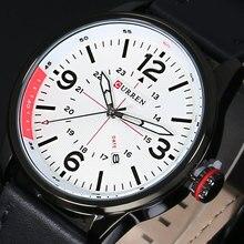 Nova marca de luxo CURREN moda homens esportes militar relógios homens de quartzo Auto data relógio de couro correia Casual relógio