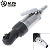 Toro 1 / 4 ''Mini Rechte Schacht Pneumatische Ratelsleutel Gepolijst Tool Met Bajonet Quick Connector Voor Auto Reparatie demonteren