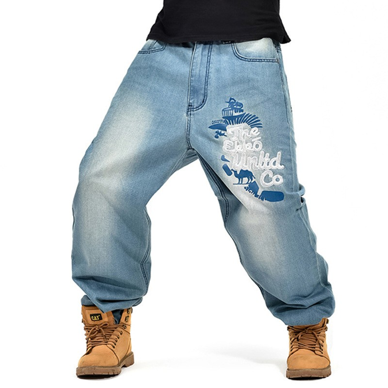 Mens Baggy Jeans Men Wide Leg Denim Pants Hip Hop New Fashion Embroidery Skateboarder Jeans Hip-hop Designer Street Dance Pants hot new large size jeans fashion loose jeans hip hop casual jeans wide leg jeans