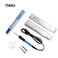 Xinpuguang Solar Cell DIY Solar Panel Welding Kit 60W Electric Iron 2 Meters Bus Wire 20 Meters Tab Wire 1pcs Flux Pen