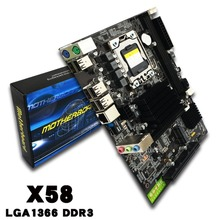 X58 motherboard USB3.0 X58 LGA1366 Memory USB2.0 24/7 motherboard for Xeon X5670 X5650 DDR3 2 channels tested before shipping