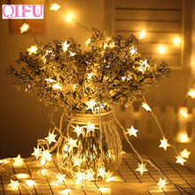 QIFU Led Copper Wire String Lights Wedding Birthday Fairy Birthday Christmas Decoration For Home New Year 2019 Light Ornament