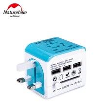 Naturehike Multifunctional Tool Transverter Socket Head Universal Travel Adapter Plug Adaptor Connector for Phone Laptop