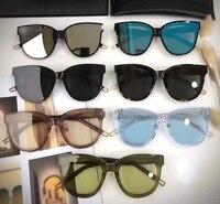 Gentle FLATBA Designer Ladies Round GM Sunglasses Multicolor Mirror Sun Glasses Vintage Style Female Oculos Sunglasses