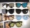 Suave flatba señoras gafas de sol multicolor espejo de Escarlata gafas de sol vintage oculos gafas de sol para las mujeres