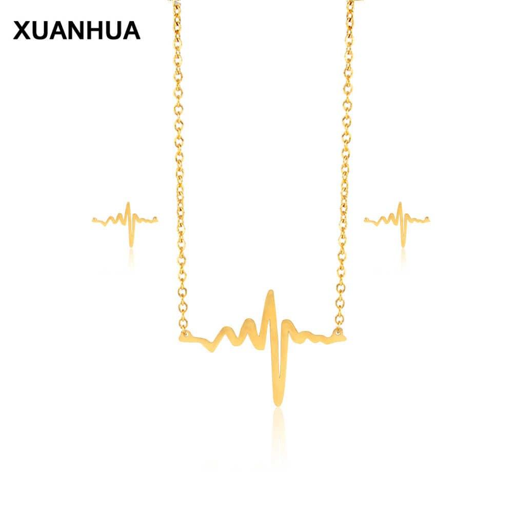 Модные свадебные Дубай Титан стали ювелирные наборы Аксессуары украшения серьги золотого цвета комплект ожерелья и цепочки для Для женщин