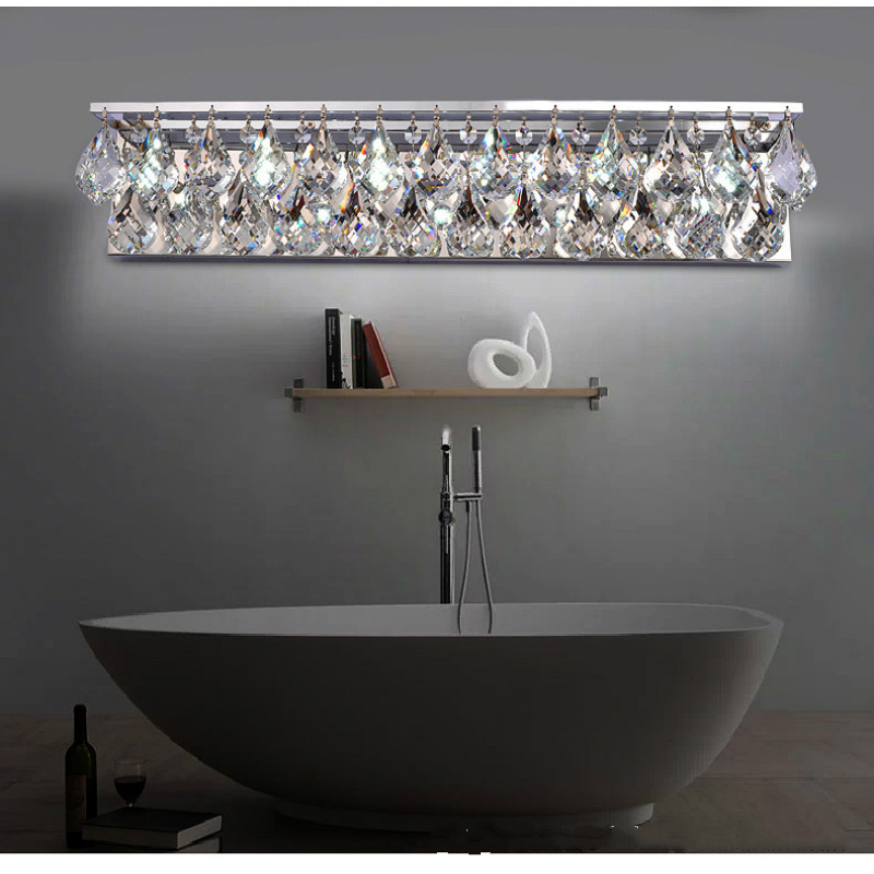 Living Room Crystal Wall Sconces : Led crystal modern brief bedroom bedside lamp crystal wall lamp lights crystal lighting www.top ...