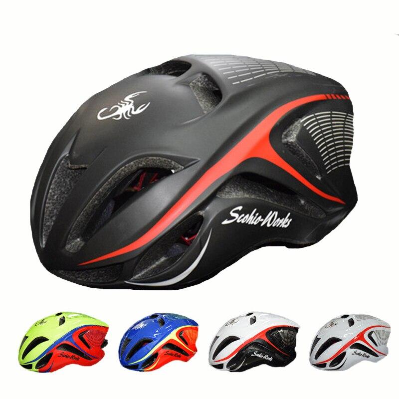 SCOHIRO Cycling Helmet 2017 Cycle Road Capacete de Ciclismo casco de ciclista MTB Bike Helmet EPS+PC Material Size 58-62cm