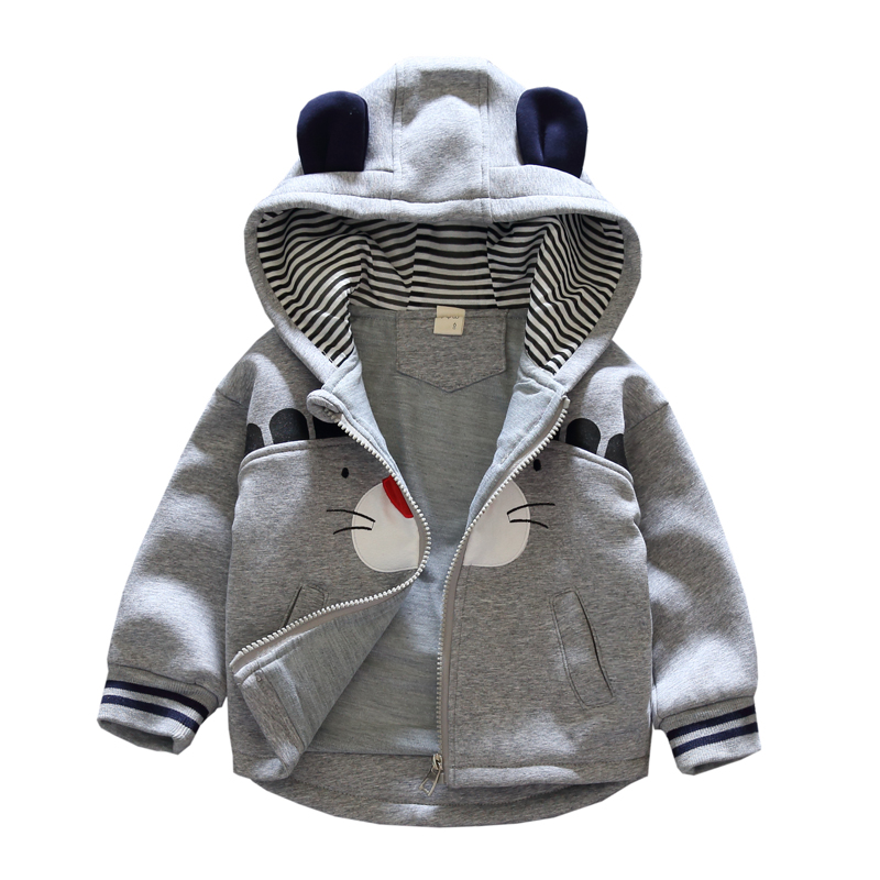 Baby clothes children's coat hoodie long-sleeved zipper jacket thick warm casual fashion sweater autumn winter top bobo choses 2017 fashion design pure hand made thick sweater coat women winter thick coarse linesthick warm high necked white sweater